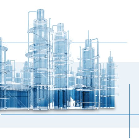 Picture of an oil factory as keyvisual von Schlemmer's Business Unit Automotive