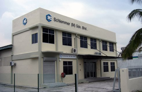 Outside view of the malaysian Schlemmer Office at the founding  of Schlemmer Malaysia
