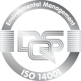 Logo for Certificate DQS ISO TS 14001 Silver for Environmental Management for Schlemmer in English