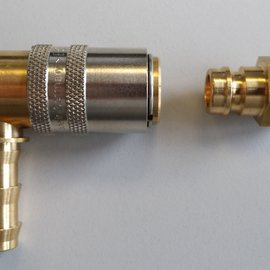 Picture of a Hasco gland used for an oxyban tube in the plastics processing industry