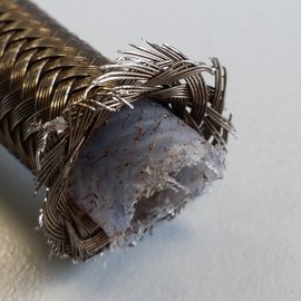 Close up on a cut hose