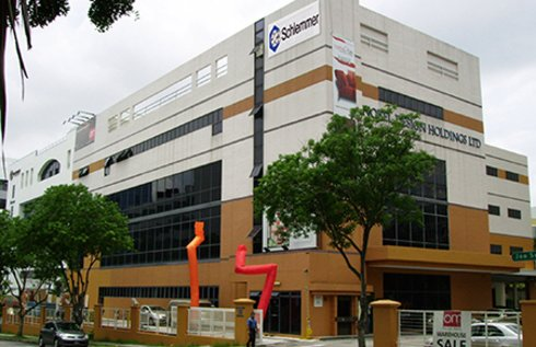 Outside view of the Singapore Schlemmer Office at the founding  of Schlemmer Singapore